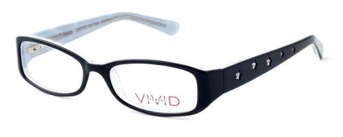 Calabria Optical Viv Kids Designer Eyeglasses 120 in Black :: Custom Left & Right Lens