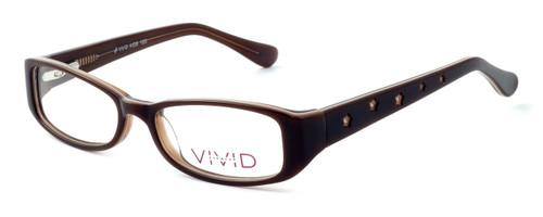 Calabria Optical Viv Kids Designer Eyeglasses 120 in Brown :: Custom Left & Right Lens