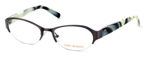 Tory Burch Womens Designer Eyeglasses TY-1033-442 in Brushed Brown :: Custom Left & Right Lens