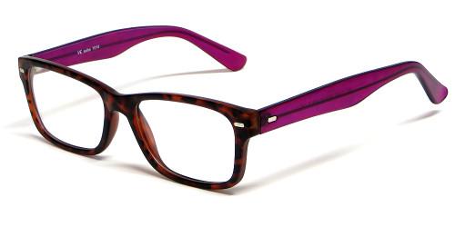 d865cadc13a Soho 1014 in Demi Tortoise   Purple Designer Reading Glass Frames    Custom  Left   Right Lens