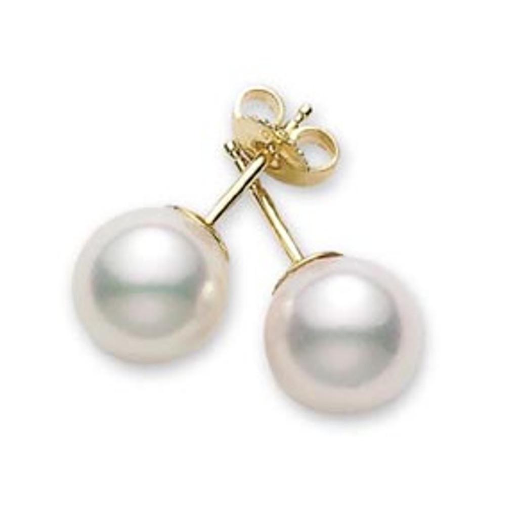 Akoya Pearl Stud Earrings (#350508)