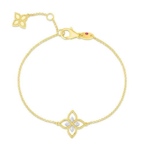 18k Principessa Diamond Flower Bracelet (#172874)