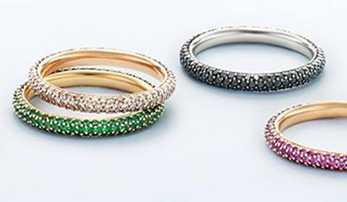 Stacked in Color: Kwiat Wedding Bands