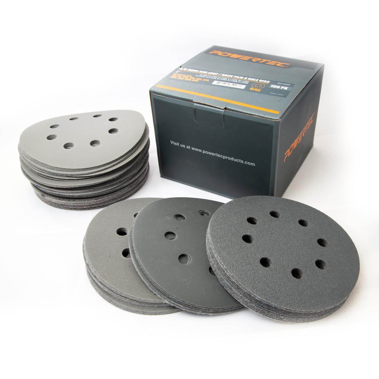 "6"" Film Sanding Discs No-Holes PSA 100 Pack Ideal for Car Repair Grit P80"