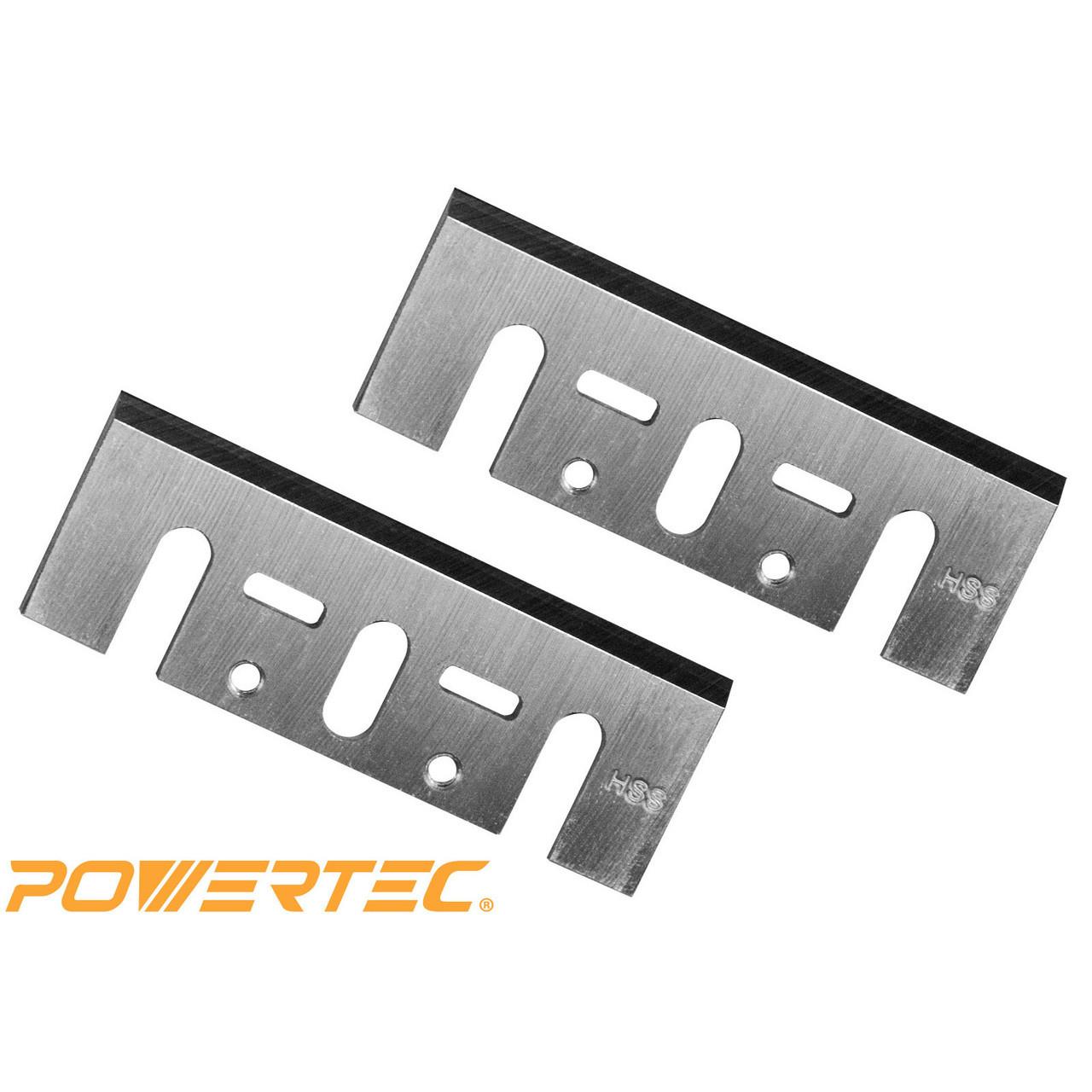 POWERTEC 128361 4-3//8-Inch HSS Planer Blades for Makita 1912B and 1805B Set of 2