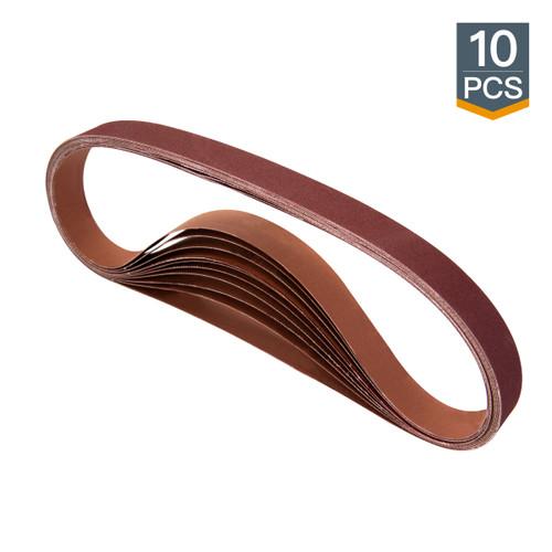 "1""x 42"" Aluminum Oxide Sanding Belt-10 pcs (more Grits)"