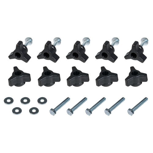 """71068 T-Track Knobs, 1/4""""-20 by 1-1/2"""" Hex Bolts, Washers (10 sets)"""