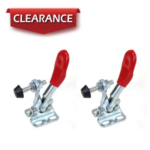 20317 Horizontal Quick-Release Toggle Clamp, 60 lbs Capacity, 201A, 2 Pack
