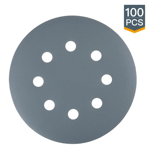 """4D14500 A/O Grey Hook and Loop Back Film Disc 8 Hole 5""""-100 PK"""