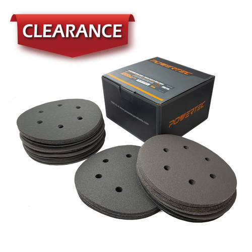 """4D14600 A/O Grey Hook and Loop/ Back Film Disc 6 Hole 6""""-100 PK"""