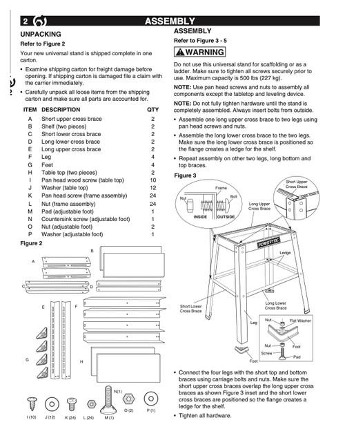 UT1002AF Adjustment Foot, M & N