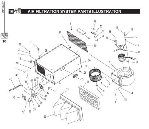 Circuit Board for AF1044 (Part #AF1044042)