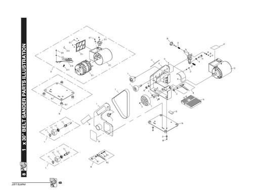 Key#7 BD1030007 Motor Pulley