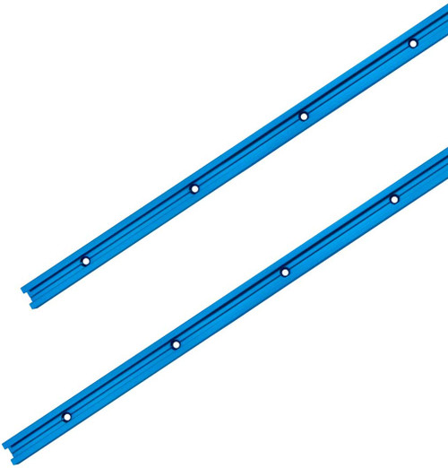 """71158 Double-Cut Profile Universal T-Track with Predrilled Mounting Holes, 48"""", 2 PK"""