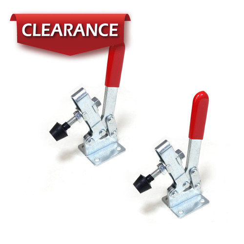 20334 Horizontal Quick-Release Toggle Clamp, 220 Capacity, 201C, 2 Pack