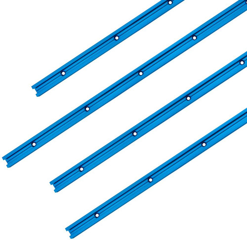 """71373 Double-Cut Profile Universal T-Track with Predrilled Mounting Holes, 48"""", 4 PK"""