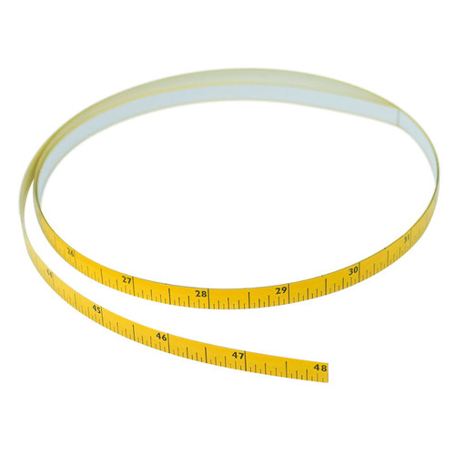"Self-Adhering Tape Measure (4' x 5/16"" x 1/128"")-2 ways"