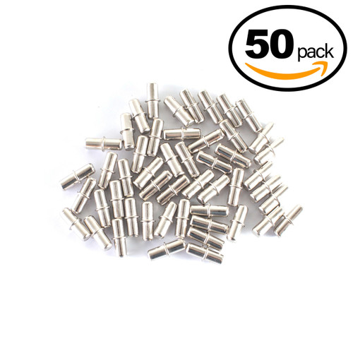 QP1202 Nickel Plated Cylindrical Shelf Pins 5mm-50 Pack