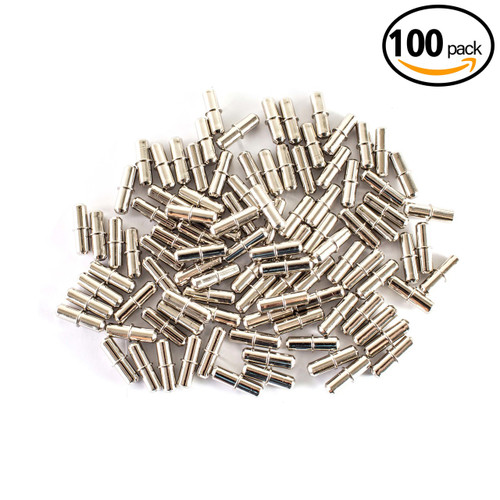 QP1203 Nickel Plated Cylindrical Shelf Pins 5mm-100 Pack