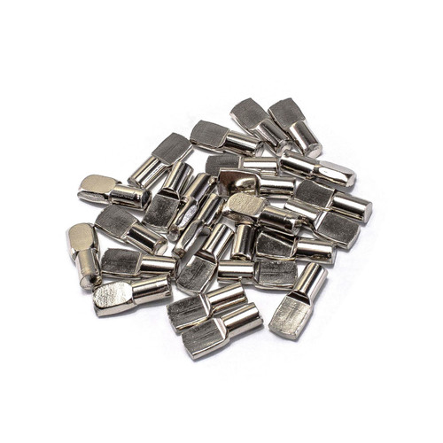 Nickel Flat Spoon Style Shelf Pin