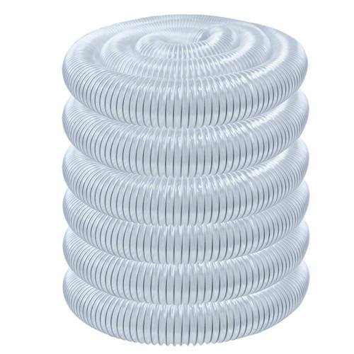 "70269 Flexible PVC Dust Collection Hose 5"" x 50-Feet, Clear Color"