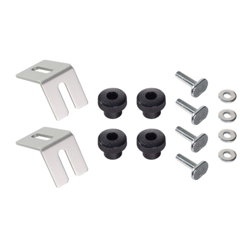Multi Track Brackets and Clamping Knob Hardware Kit with T-Track Bolts