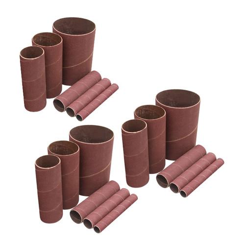 """11240 Sanding Sleeves 4-1/2"""" for Spindle Sander (80,120,240 Grits)-18 PK"""