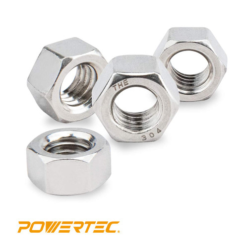 Stainless Hex Nut-Inch series, 100PK (more sizes)