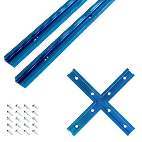 Double-Cut Profile Universal T-Track with Intersection Kit (more sizes)