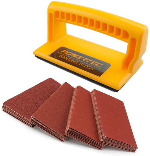 "71435 Sanding Block 5-3/4"" x 2-7/8"" with Sandpaper Assorted Grits"