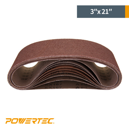 """3"""" x 21"""" Aluminum Oxide Sanding Belt Assortment (more choices)"""