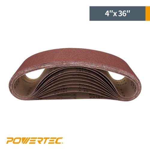 "4""x 36"" Aluminum Oxide Sanding Belt"