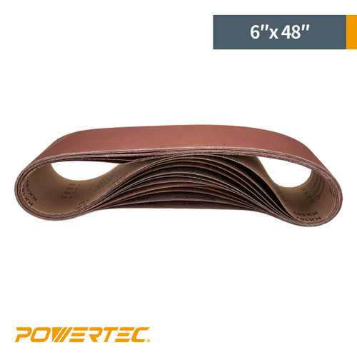 "6"" x 48"" Aluminum Oxide Sanding Belt Grit Assortment (more choices)"