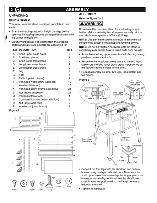 UT1002 Hardware Screw Set, I through L, O, P