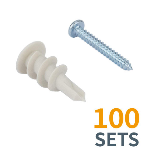 71549 Self Drilling Drywall Anchors with Screw Kit-100 Pack