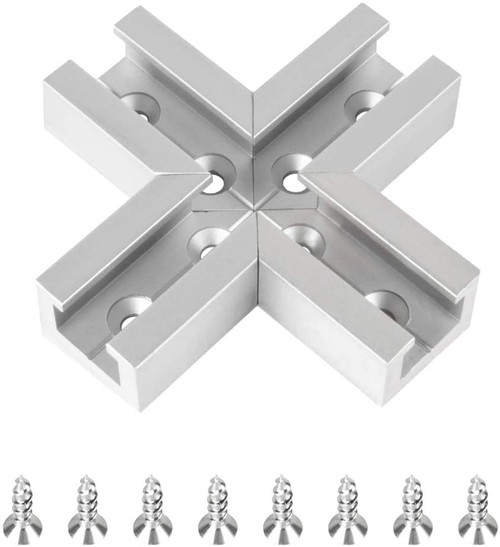 71415 T-Track Intersection Kit 3 x 3 , Anodized Aluminum