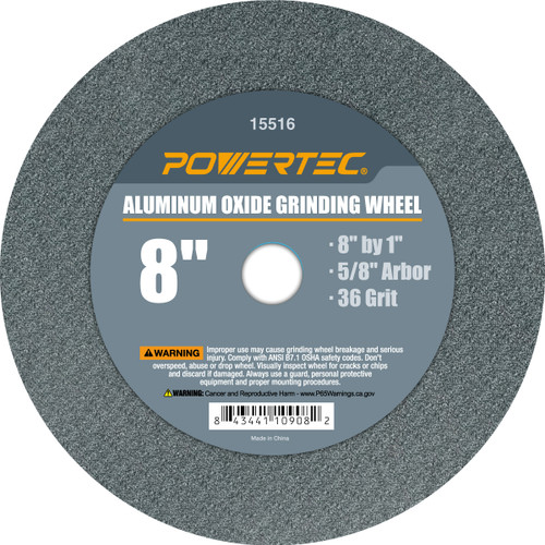 "Aluminum Oxide Grinding Wheel 8"" by 1"" Disc with Arbor 5/8""(more choices)"