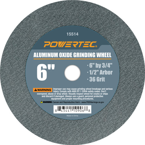 "Aluminum Oxide Grinding Wheel 6"" by 3/4"" Disc with Arbor 1/2""(more choices)"