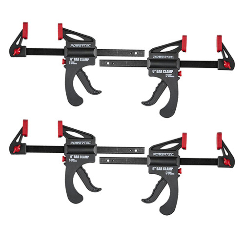 """71593 Ratcheting Bar Clamp 6"""" Quick Release Bar Clamp with 12"""" Spreader-4 PK"""