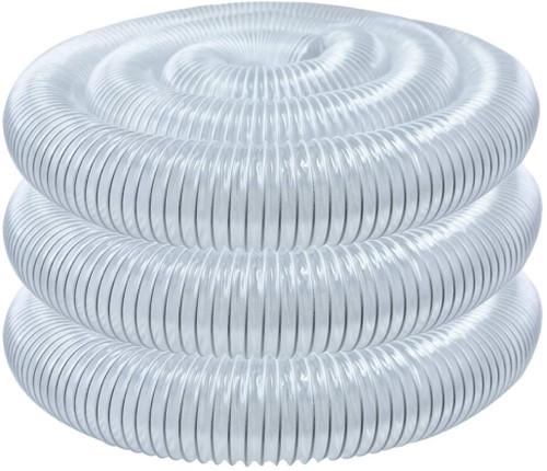 "70143 Flexible PVC Dust Collection Hose 4"" x 20-Feet, Clear Color"