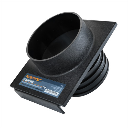 70287 4 Inch Blast Gate Dust Collection Quick Change Threaded/ Non-Threaded Ends for Dust Hoses and Flanges