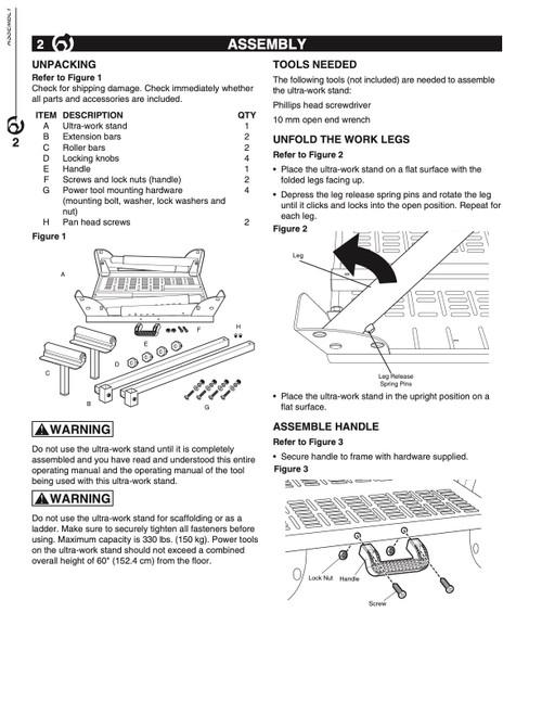 UT1004 Hardware Kit, D through H