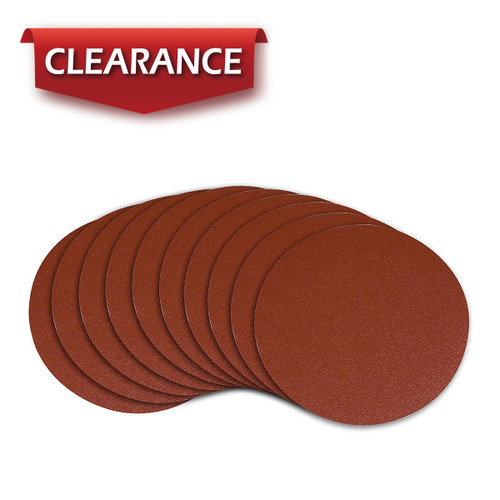 """10"""" PSA 40 Grit A/O Adhesive Sanding Disc, 10 Pack"""