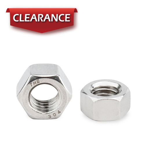 """3/8""""-16 Stainless Hex Nut-Inch series, 100PK"""