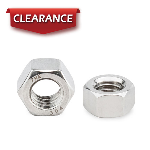 """1/2""""-13 Stainless Hex Nut-Inch series, 100PK"""