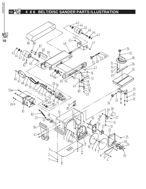 KEY#33 BD4600033 Work Table Support