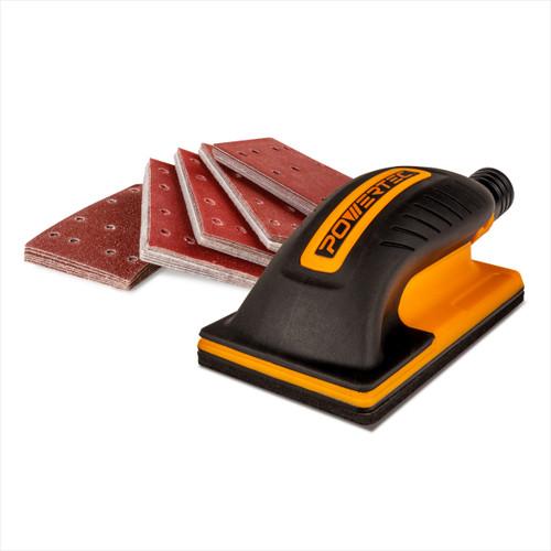 71514 80mm X 130mm Hand Sanding Block Set w/ Aluminum Oxide Sander Pad Assortment