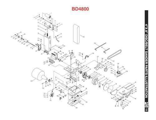 KEY#94 BD4800094 (BD6900 KEY#93) Table Support Rod (BD6900093)
