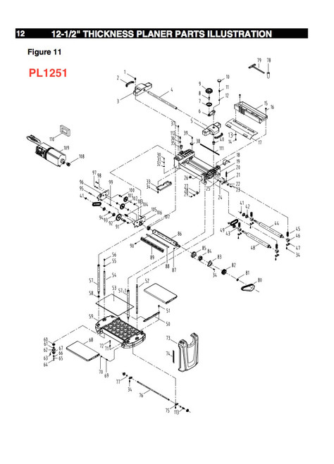 PL1251CHA Crank Handle Assembly for PL1251 and PL1250