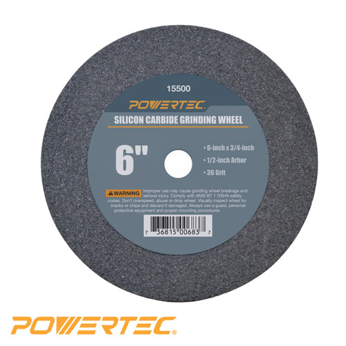"Silicon Carbide Grinding Wheel 6"" by 3/4"" Disc with 1/2"" Arbor (more choices)"